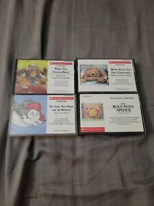 SCHOLASTIC Lot Of 4 Vintage Children's English Audio Books On Cassette Tape # 7
