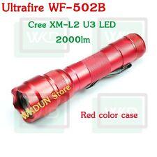 Red Case UltraFire WF-502B Cree XM-L2 U3 2000LM 5-Modes L2 Led Flashlight Torch
