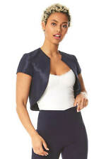 Roman Originals Women Plain Cropped Shantung Bolero
