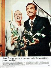 PUBLICITE ADVERTISING 115  1968  Perrier eau minèrale par J.C DEWOLF
