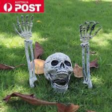 Halloween Horror Skeleton Head Bones Decorations Skull Hand Indoor Outdoor Scary