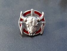 PIN Anstecker Stier Sitting Bull Indian Spirit Skull Totenkopf Sammler USA