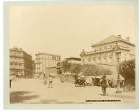 Algérie, Constantine, Place de la Bréche Vintage albumen print.  Tirage albumi