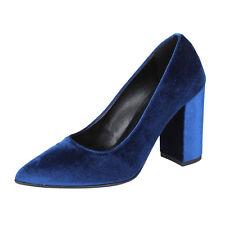 scarpe donna OLGA RUBINI 36 EU decolte blu velluto BX812-36