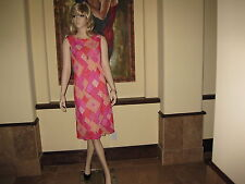 NWOT Chic Beige+ Red+ Pink Sleeveless Scoopneck A-Line Career Shift Dress, M/L.