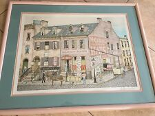 "A. Winchester ""McCann's Celebrated Hats"" Limited Edition Lithograph Print Framed"