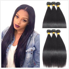 "50g 6Bundles 18"" Brazilian Straight Real Human Hair Extensions Can Cover Head"