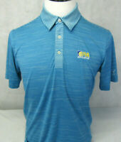 Puma Golf Dry Cell Geometric PA Sports Logo Blue Short Sleeve Polo Shirt Mens S