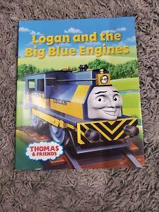 LOGAN & THE BIG BLUE ENGINES BOOK Thomas Tank Engine Friends WOODEN Railway NEW