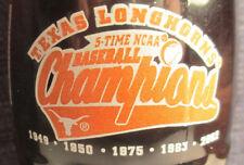 TEXAS LONGHORNS 2002 COCA-COLA COKE 8 oz Bottle - 5 Time Baseball Champions