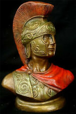Greek Roman Art Spartan Bust Soldier Statue Sculpture