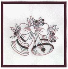 1119:  Machine Embroidery Designs - Christmas 2009 - Redwork