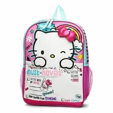 """New Hello Kitty """"MUST-HAVES!"""" 16"""" Backpack School Book Bag Cute 3D Bow Licensed"""