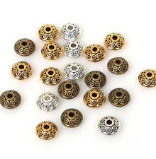 piezas de arte Hobby Manualidades Fabricación de Joyas Tibetano Flor espaciador granos de oro 5mm de 100