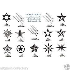 Temporary Tattoos David Stars Star Meteor Tattoo Body Art Tattoos Waterproof