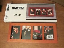 NEW-Malden Wood Photo Frame-  Collage -Holds Four Photos