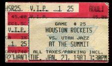 Ticket Basketball Houston Rockets 1988 2/9 Boston Celtics Hakeem Olajuwon
