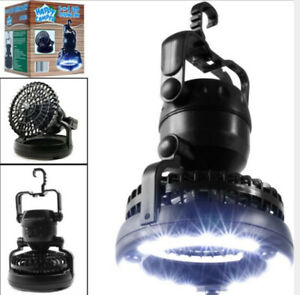 Portable LED Camping Lantern with Ceiling Fan 2-In1 Outdoor Emergency Tent Light