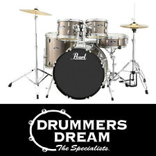 "Pearl Roadshow 5pce 22"" Drum Kit Gig Ready w/Cymbals & Hardware -Bronze Metallic"