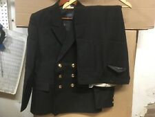 Soviet Navy Officer Double Breasted Suit Blazer/Matching Pants,Black,Size 50-3