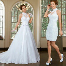 d040New Sexy  Lace A-Line Wedding Dress Bridal Ball Gown Custom Made Size 2-28
