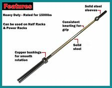220 cm Chrome 7 Foot Olympic Barbell 1500 LB Bar +2 Free EZY-Grip Spring Collars