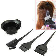 4 Pcs Hairdressing Brushes Bowl Combo Salon Hair Color Dye Tint Tool Set Kit New