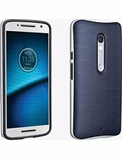 Verizon Rubber Silicone Soft Slim Cover Case for Motorola Droid Maxx 2 Navy NEW