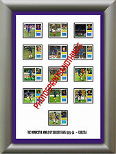 CHELSEA - 1973-74 - REPRO STICKERS A3 POSTER PRINT