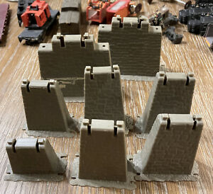 HO Scale 8 Pieces Graduated Pier Set HO Scale Track (not Complete Parts ONLY)
