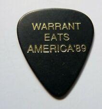 Warrant Erik Turner Gold On Black 1989 Vintage Tour Issued Guitar Pick Rare