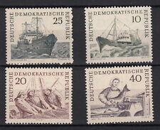 DDR GERMANIA EST 1961FLOTTA DI PESCA D'ALTURA 4 VAL YVERT 532-5 SG E552-5 MNH**