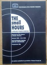 The Small Hours programme Cheltenham Little Theatre at Playhouse 1998