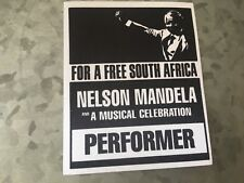 Nelson Mandela - For a Free South Africa - Performer Pass - Black