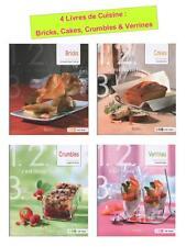 4 Livres Cuisine : Bricks, Cakes, Crumbles Salés & Sucrés, Verrines - Ed. Saep