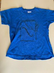 Boys/Girls fruit of the loom music 'Summer Strings' blue t-shirt 7 years 128cm