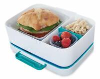 Rubbermaid LunchBlox Leak-Proof Meal Kit Container Kit with Case Blue