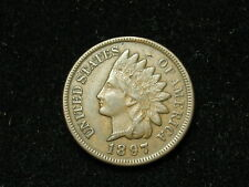 SUMMER SALE!! XF+ 1897 INDIAN HEAD CENT PENNY w/ DIAMONDS & FULL LIBERTY #49s