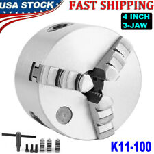 3 Jaw 4 Inch 100mm Lathe Chuck Self Centering Milling Hardened Workholding Tool