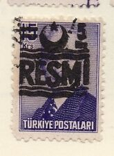 Turkey 1955-56 Issue Fine Used 5k. Optd Resmi Star & Crescent Surcharged 085578