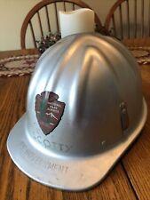 Vintage Metal Hard Hat / Helmet McDonald T - Us Government National Park Serv