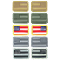Lancer Tactical US Flag PVC Hook & Loop Tactical Morale Patch Set