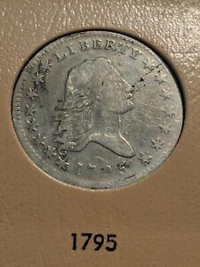 1795 Flowing hair half dollar 50c Beautiful and RARE Ch VF