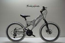 Bici mtb 24 bi ammortizzata in alluminio 21v shimano bimbo da 10 a 14 anni