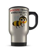 14 OZ (approx. 396.89 g) cuidado Loco Bumble Bee Dama Aluminio Taza de viaje