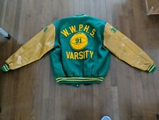 W.W.P. High School Varsity letterman jacket leather arms sz 48 Basketball DAVIS