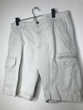 Mens Columbia Omni-Shade Hiking Fishing Cargo Shorts Size 32 - Tan