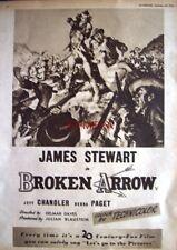 BROKEN ARROW Original 1950 Film Advert - James Stewart Movie Ad