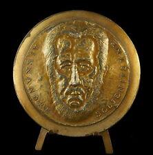 Medaille 23/100 dissident russe Alexandre Soljenitsyne Prix Nobel prize 70 medal