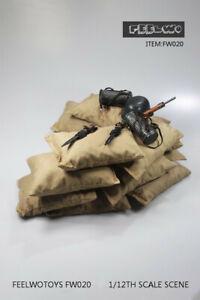 "10pcs FEELWOTOYS 1:12 Sandbags Scene Props Fit 6"" Action Figure Body Toy"